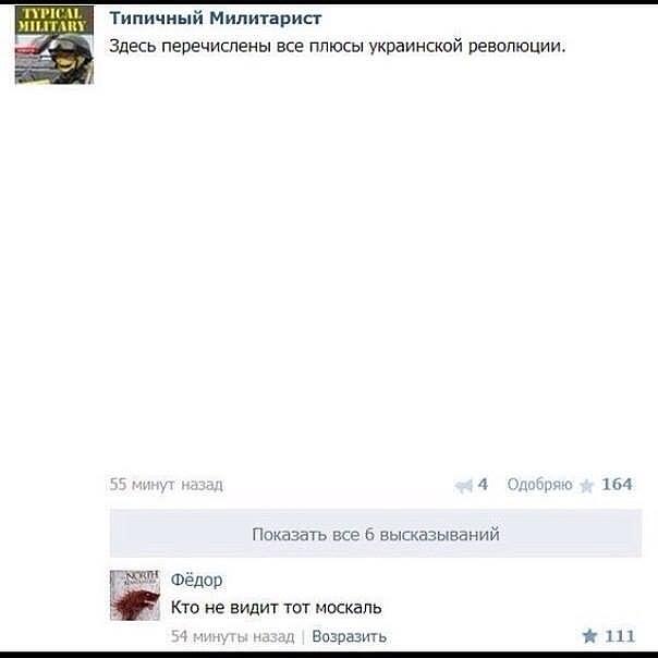 плюсы украинской революции